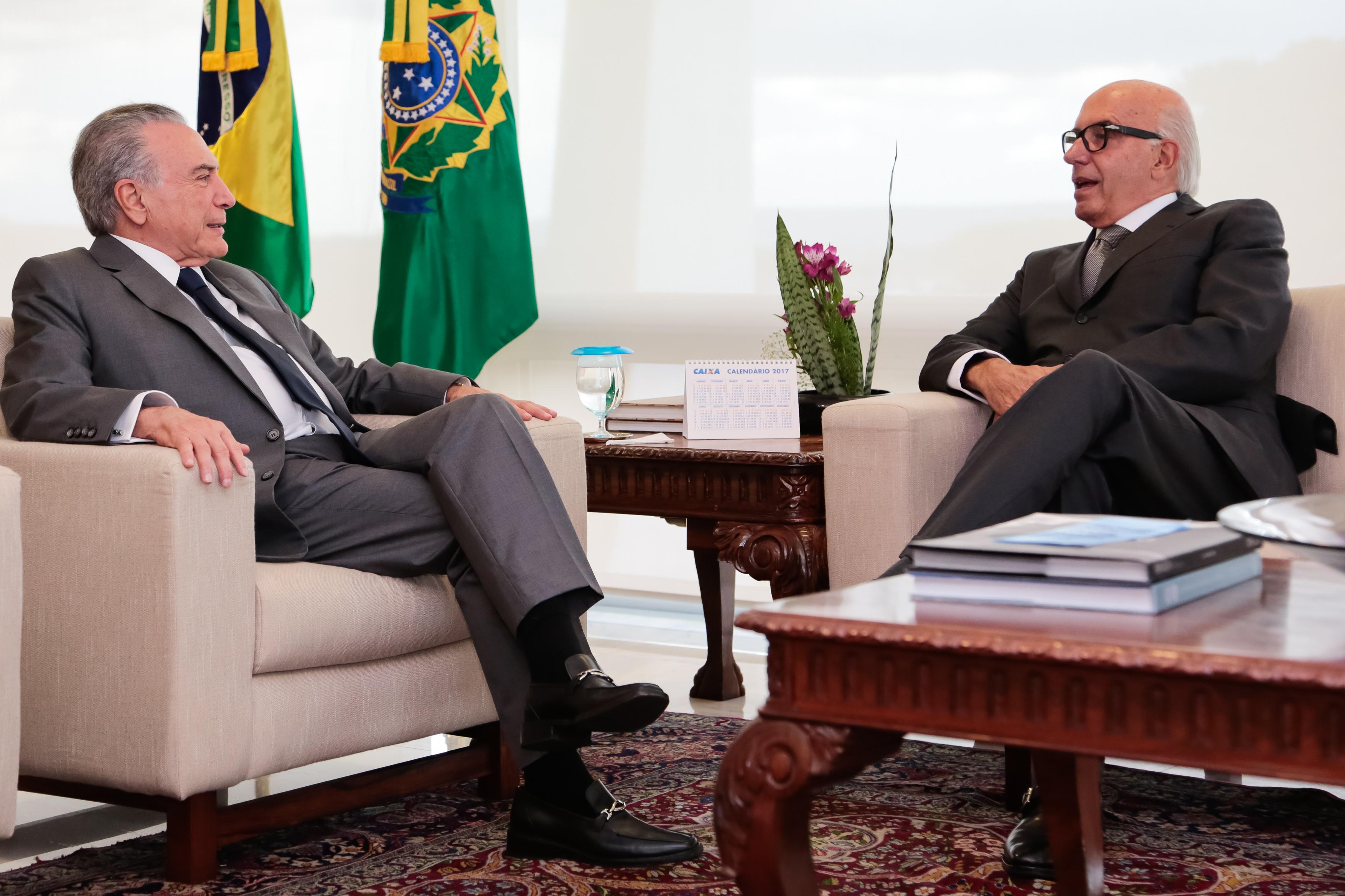 Luiz Ildefonso Simões Lopes | Brookfield Brasil | Luiz Ildefonso Simões Lopes, CEO da Brookfield Brasil, encontrou-se com o atual Presidente da República Michel Temer